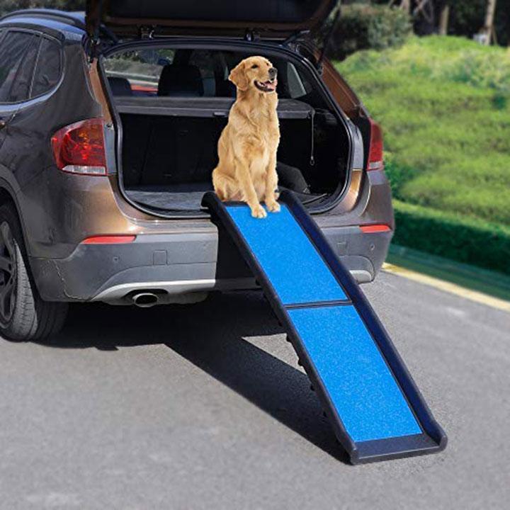 rampe atoz-bi-fold-dog &quot;class =&quot; wp-image-2181 &quot;srcset =&quot; https://outdoordogworld.com/wp-content/uploads/2019/03/atoz-bi-fold-dog-ramp. jpg 720w, https://outdoordogworld.com/wp-content/uploads/2019/03/atoz-bi-fold-dog-ramp-150x150.jpg 150w, https://outdoordogworld.com/wp-content/uploads/ 2019/03 / atoz-bi-fold-dog-ramp-203x203.jpg 203w, https://outdoordogworld.com/wp-content/uploads/2019/03/atoz-bi-fold-dog-ramp-405x405.jpg 405w, https://outdoordogworld.com/wp-content/uploads/2019/03/atoz-bi-fold-dog-ramp-70x70.jpg 70w, https://outdoordogworld.com/wp-content/uploads/2019 /03/atoz-bi-fold-dog-ramp-101x101.jpg 101w &quot;tailles =&quot; (largeur maximale: 720px) 100vw, 720px &quot;/&gt;</figure> </div> <p>La rampe pour animaux de compagnie Bi-Fold pour animaux Atoz est à la fois légère et en plastique durable. La rampe a une surface légèrement inclinée et antidérapante et se plie confortablement en deux.</p> <p><strong>Poids de la rampe:</strong> 10 lb</p> <p><strong>Capacité de la rampe:</strong> 200 lb</p> <p><span class=