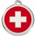 Médaille Gravée Pour Chien Suisse