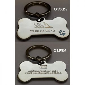 Médaille pour chien porte clé animaux