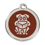 Médaille pour chien harnais chiot