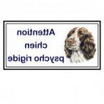 Médaille pour chien panneau attention au chien personnalisé