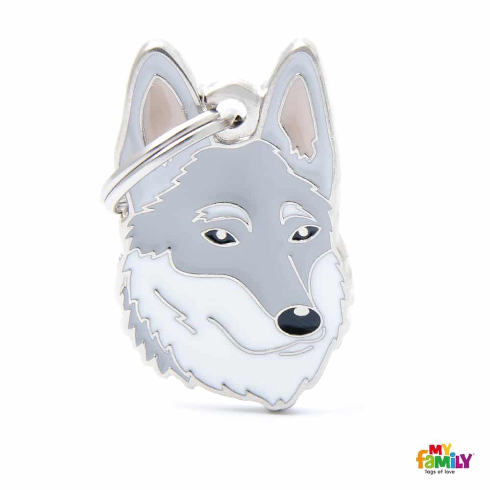 Médaille chien imperméable noir
